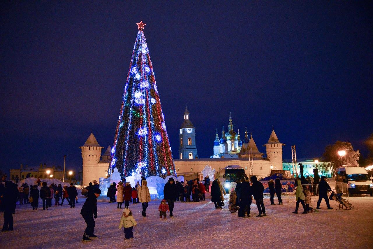 Церемония открытия ледового городка