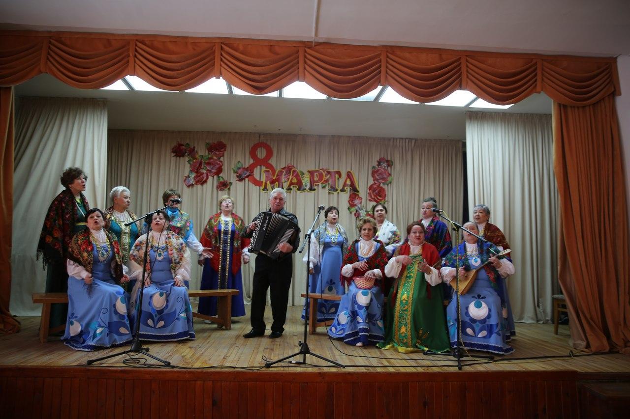 Праздничный концерт, посвященный Международному женскому дню, прошел в Доме народного творчества